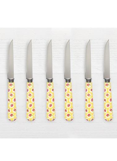 Friends Yellow F. 6'lı Tatlı/Meyve Bıçağı-Pink&More